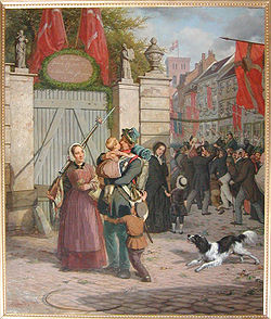 Krigen1848-1850. Den danske hær vender hjem