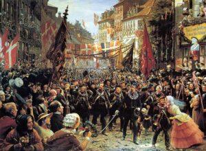 Hæren vender hjem fra 3-årskrigen 1850