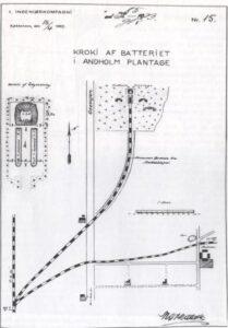 Sikringsstilling Nord, tegning af Andholm batteri