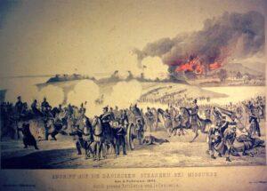 Mysunde 2. februar 1864, skanse A og B