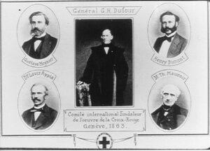 Røde Kors første indsats, de fem fra Geneve