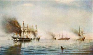 Slaget ved Helgoland, det brændende Schwarzenberg