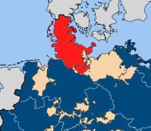 Oprøret 1848, hertugdømmerne