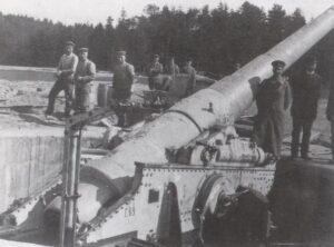 Batteri 9 Lerskov, den monterede kanon