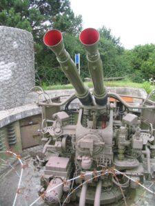 Langelandsfortet, luftskyts 40 mm. Bofors