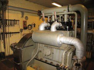 Lnagelandsfortet, dieselmotor til nødgenerator