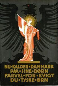 Efter 1864, dansk afstemningsplakat 1920