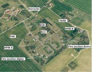 Stevnsfortets HAWK raketter, afskydningsområdet