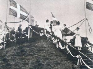 Efter 1864, ceremonien på Kongeskansen 1920