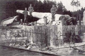 Batteri 11 Rugbjerg, brisken. Sikringsstilling Nord