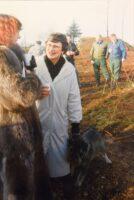 Mette Sarus Scott Hansen ved åbning af bunker i Sikringsstilling Nord
