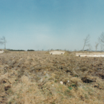 De tre intakte bunkere i Andholm Batteri 1981