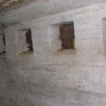 Sikringsstilling Nord, Andholm Batteri, skydeskår i mandskabsbunker