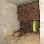 Andholm batteri, stålluge i mandskabsbunker Andholm Batteri Sikringsstilling Nord