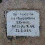 Grave og mindesten på Arnkil, Preussisk mindesten