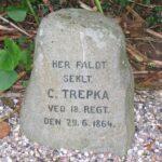 Grave og mindesten på Arnkil, mindesten for seklt. Trepka