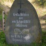 Grave og mindesten på Dybbøl Banke, brohoveeskanse