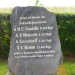 Grave og mindesten på Dybbøl Banke, 4 savnede officerer