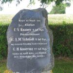 Grave og mindesten på Dybbøl Banke, mindesten 3 savnede officerer