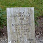 Grave på Garnisons kirkegård og mindesten, KAPT C.W. Jensen, Dybbøl
