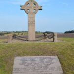 Grave og mindesten i Gunderup efter kampen ved Lundby, landevejen ved Lundby