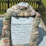 Grave og mindesten på Nybøl kirkegård, mindesten Christian Lorenzen 18. april