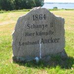 Mindesten i Dybbøl skanser, Preussisk mindesten