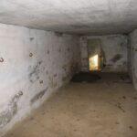 Resterne i Vedbøl, halvdelingsbunker indvendig