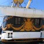 Fregatten Jylland, agterspejlet
