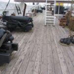 Fregatten Jylland, dækket