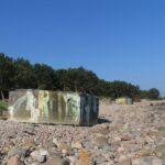 Hornbæk batteri, briske på stranden